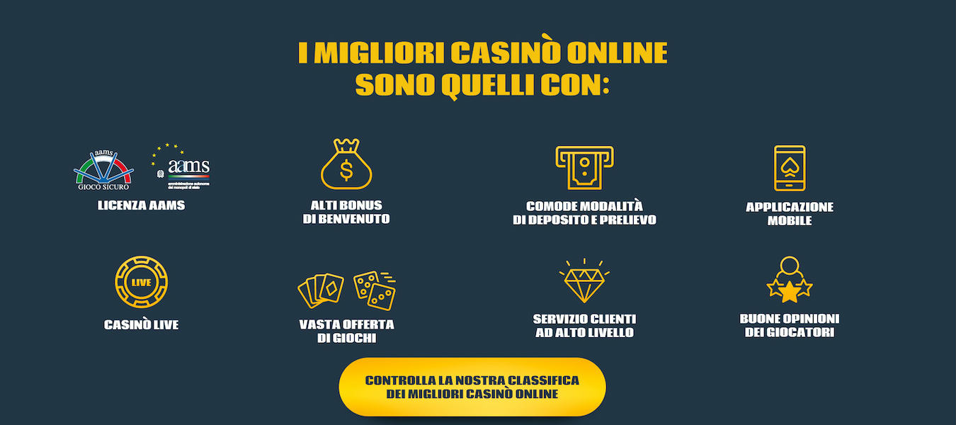 Tutto sui casino online aams
