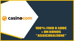 Casino.com opinioni e offerta